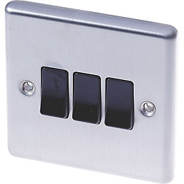 Lap 10A 2-Way Double Stainless Steel 10AX Switch