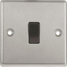 Lap 10A Single Stainless Steel 10AX Intermediate Switch