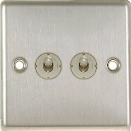 Lap 6A 2-Way Double Stainless Steel 6AX Switch