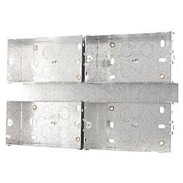 British General 50mm Steel Quadruple Mounting Box