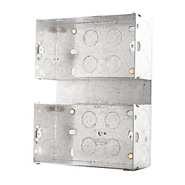 British General 50mm Steel Double Mounting Box