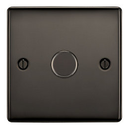 British General 2-Way Single Black Nickel Dimmer Switch