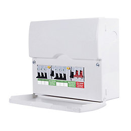 British General 100A 6-Way Metal Enclosure Consumer Unit