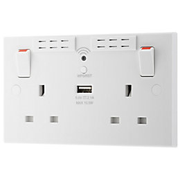 British General Double socket Wi-Fi range extender &
