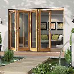 Golden Oak Timber Glazed Patio Door, (H)2094mm (W)2994mm