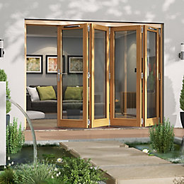 Golden Oak Timber Glazed Patio Door, (H)2094mm (W)2994mm