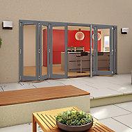 Grey Timber Glazed Patio Patio door, (H)2094mm (W)4794mm