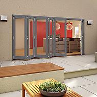 Grey Timber Glazed Patio Patio door, (H)2094mm (W)4194mm