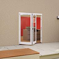 White Timber Glazed Folding Patio door, (H)2094mm (W)1794mm