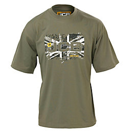 JCB Olive Heritage T-Shirt Medium