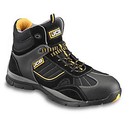 JCB Black Rock Hiker Boots, Size 9