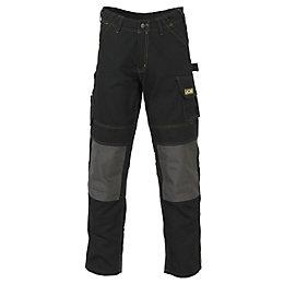 "JCB Cheadle Pro Black Work Trousers W38"" L32"""