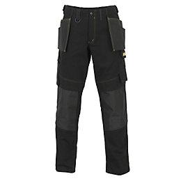 "JCB Rochester Pro Black Work Trousers W32"" L32"""