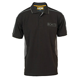 JCB Black Fenton Polo Shirt Small
