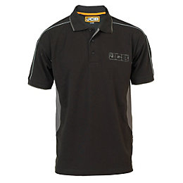 JCB Black & Grey Fenton Polo Shirt Extra