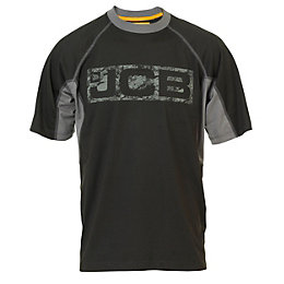 JCB Black & Grey Trentham T-Shirt Large