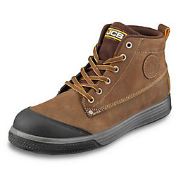 JCB Tan Hiker Trainers, size 7