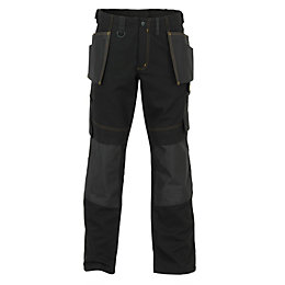 "JCB Cheadle Trade Black Work Trousers W44"" L32"""