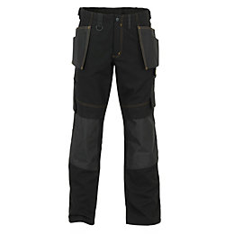 "JCB Cheadle Trade Black Work Trousers W32"" L35"""