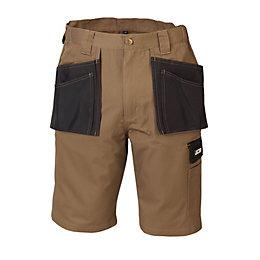 "JCB Keele Brown Shorts W36"" L23"""
