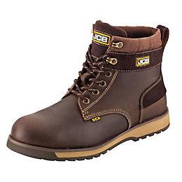 JCB Brown 5CX Boots, size 10