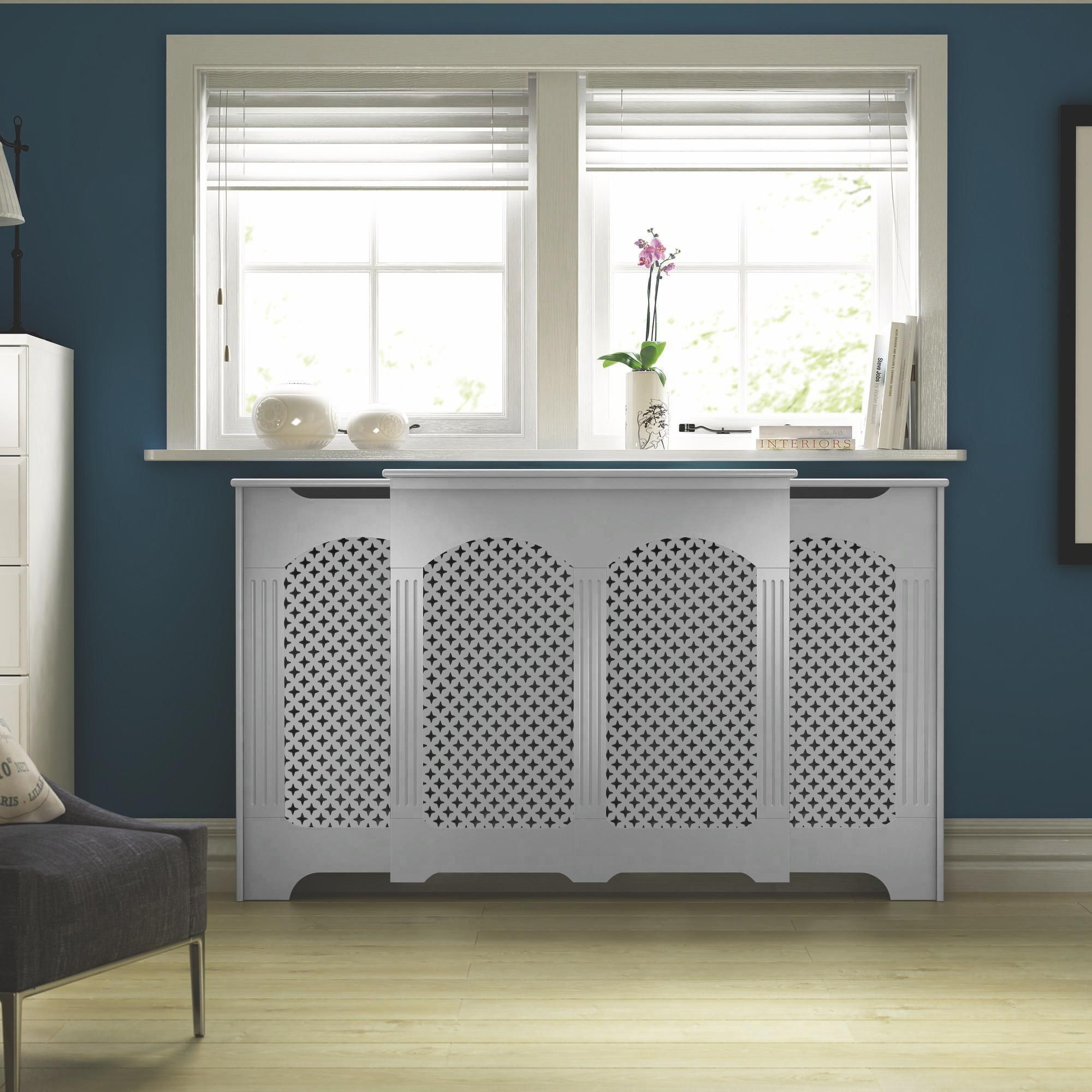 Large White Painted Radiator
