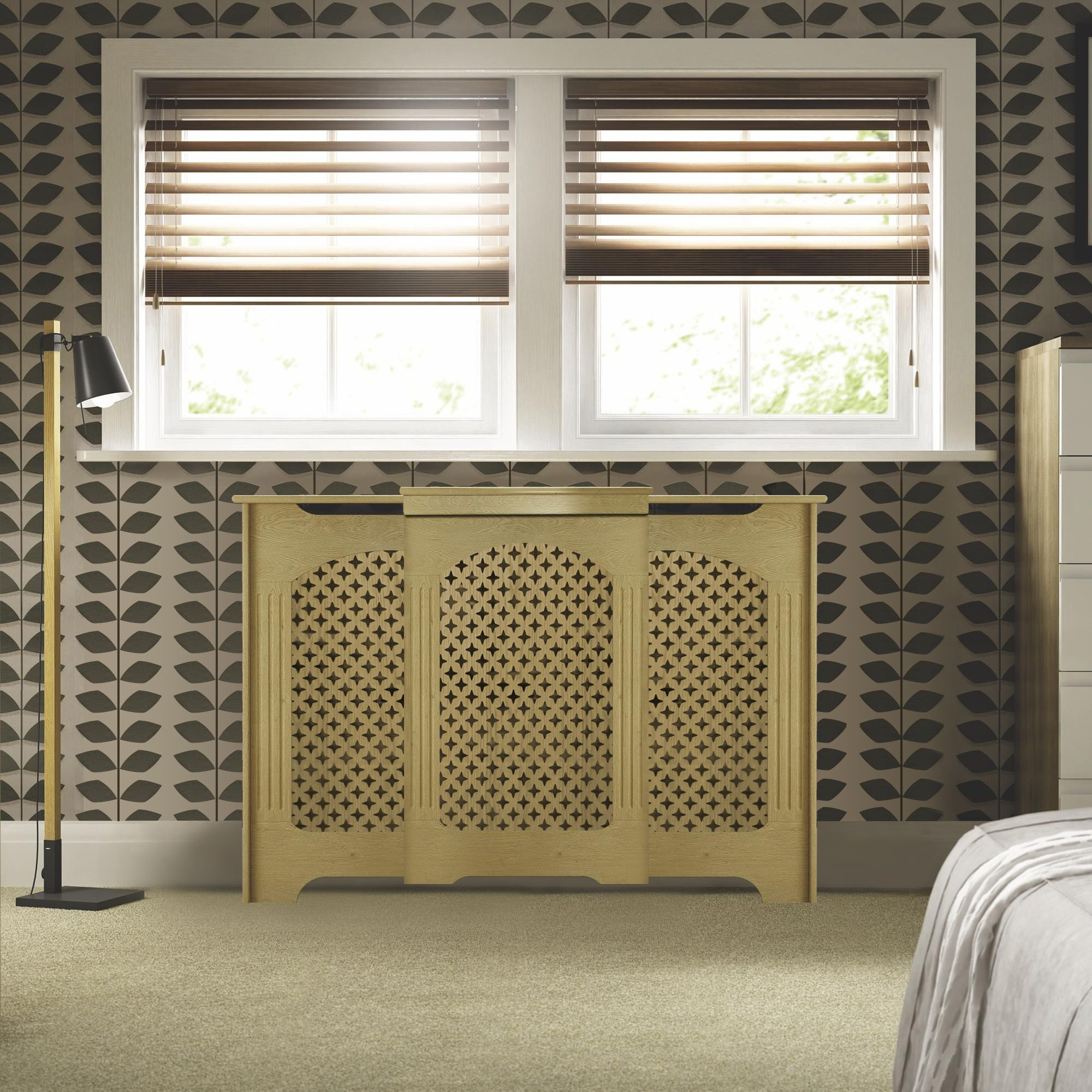Cambridge Adjustable Small - Medium Oak Veneer Radiator