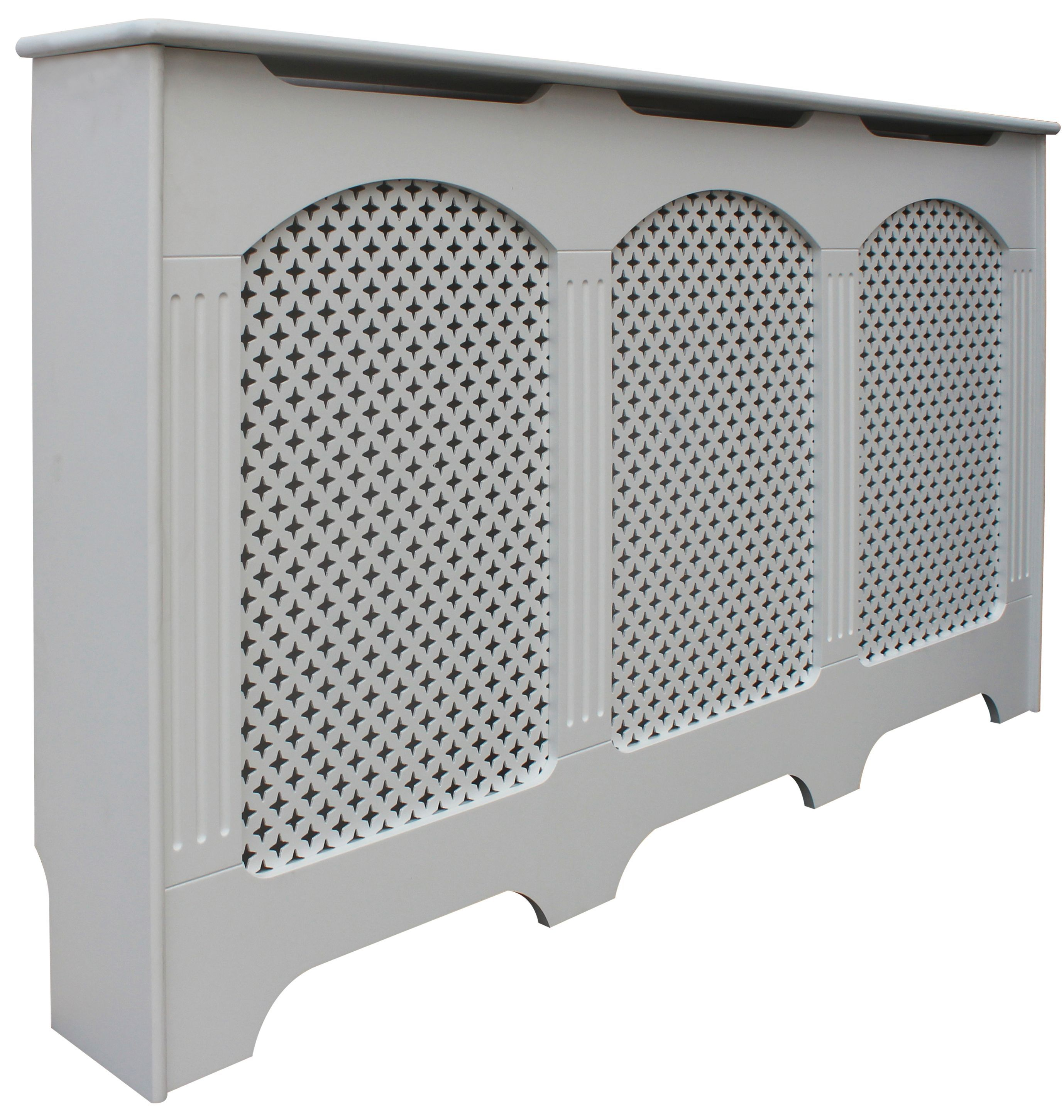 Breakfast Bar Worktop >> Cambridge Large White Painted Radiator cover | Departments ...