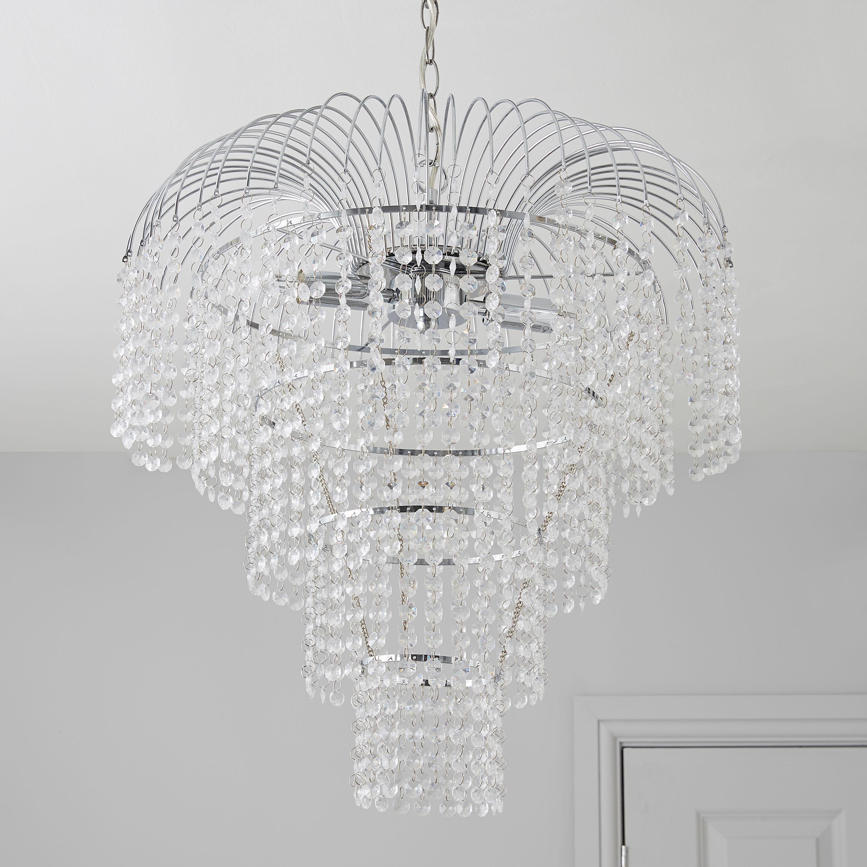 Chandelier Lighting B Q: Chatelet Chrome Effect 2 Lamp Pendant Ceiling Light
