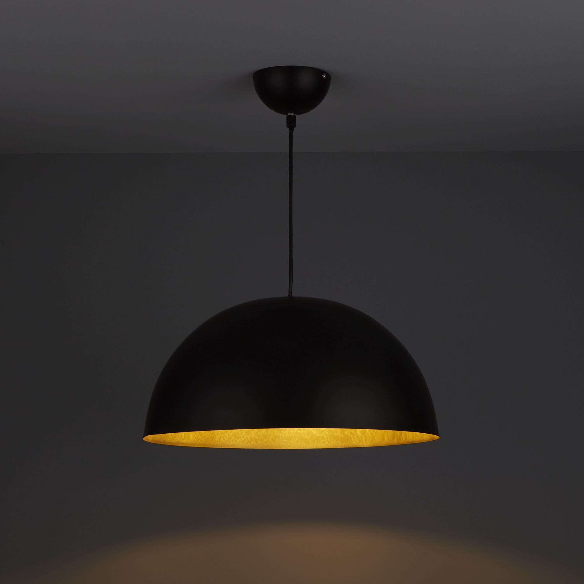 Kapsel Dome Black Pendant Ceiling Light Departments Diy At B Amp Q