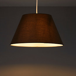 Colours Eos Anthracite Linen Effect Tapered Drum Light
