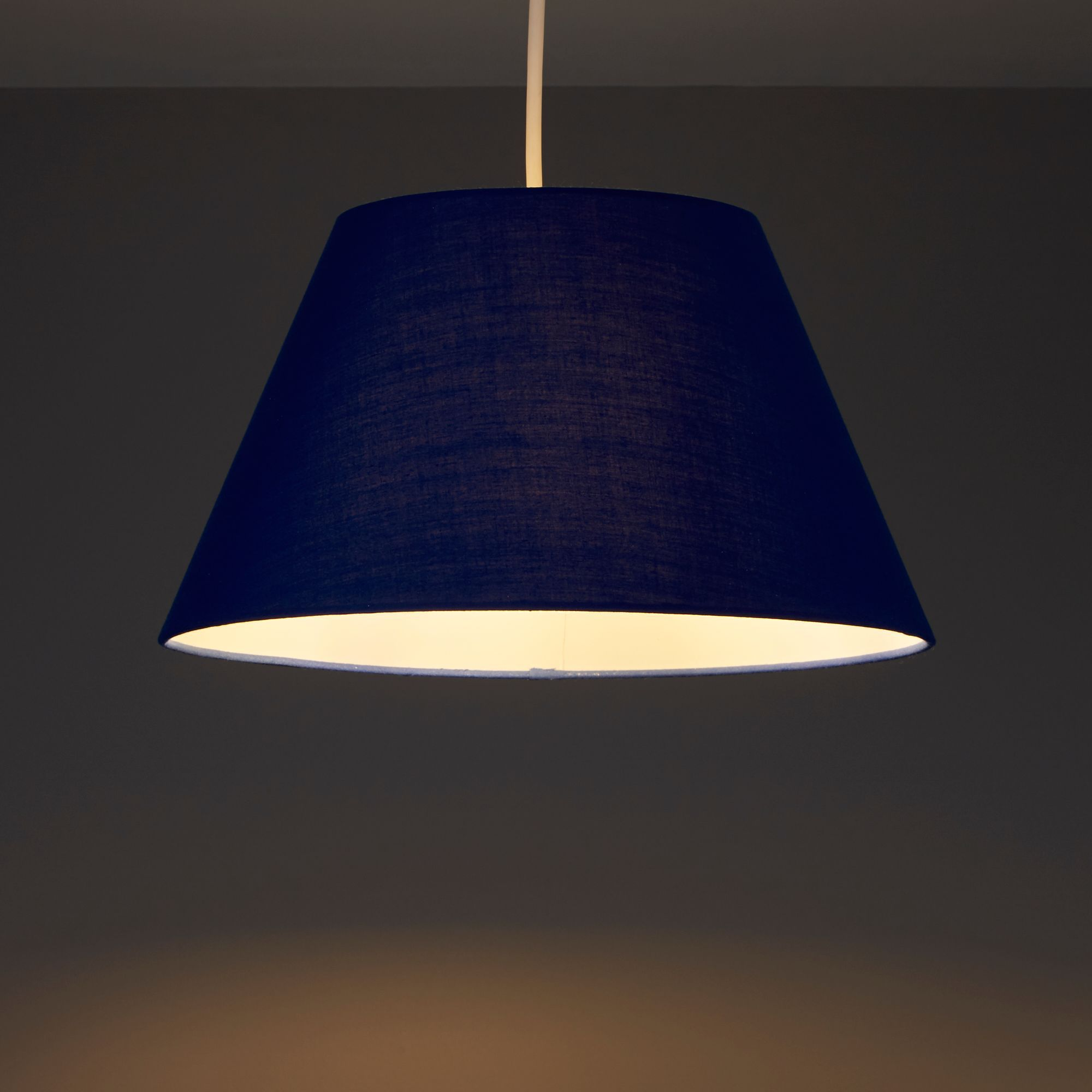 Colours Eos Navy Tapered Light shade (D)305mm