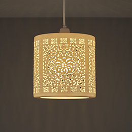Colours Vasily Cream Cutout Light Shade (D)195mm