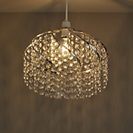 Colours Carbucca Clear Crystal effect Beaded spiral Light shade (D)300mm