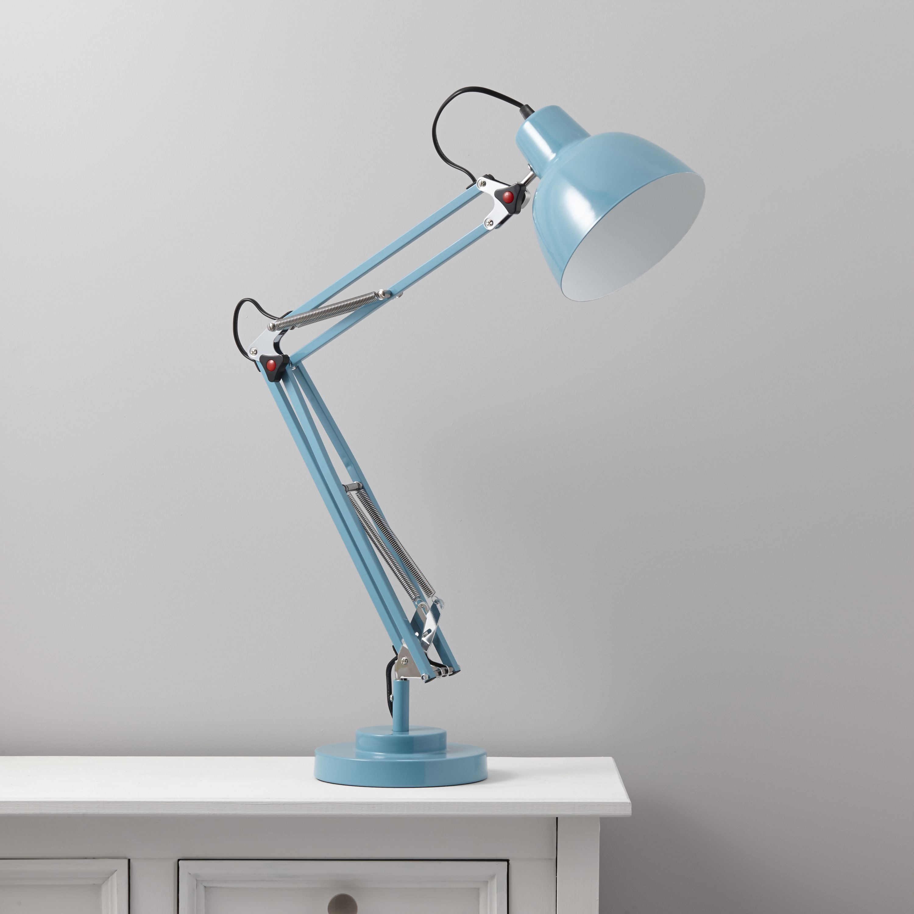 Isaac blue desk lamp departments diy at bq aloadofball Choice Image