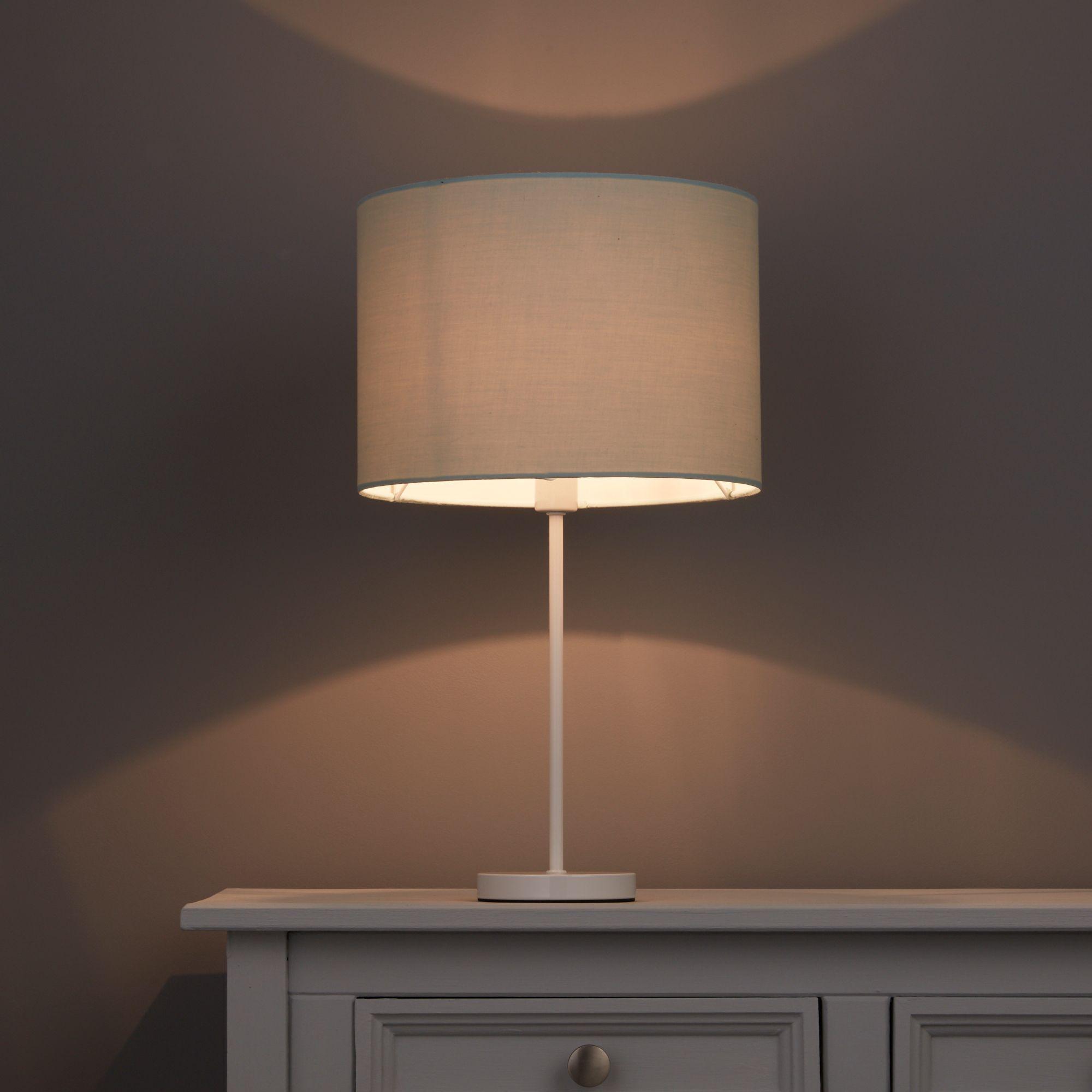 Colours Fairbank Duck egg Drum Light shade (D)280mm
