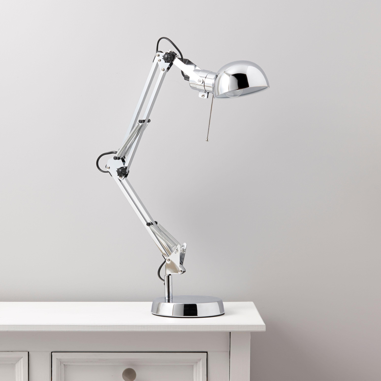 Tutti Chrome Effect Desk Lamp Departments Diy At B Q