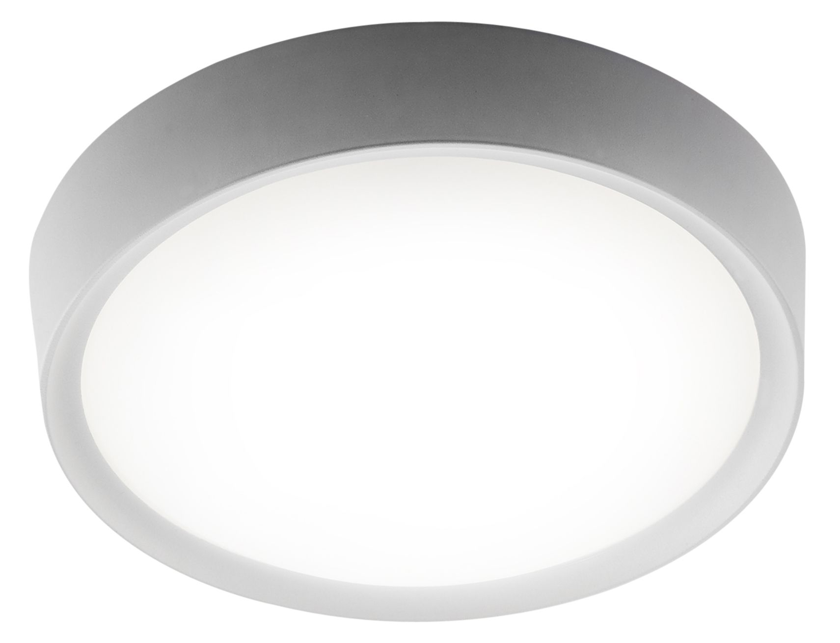 Picture of: Ruth Brushed White Bathroom Flush Ceiling Light Departments Diy At B Q