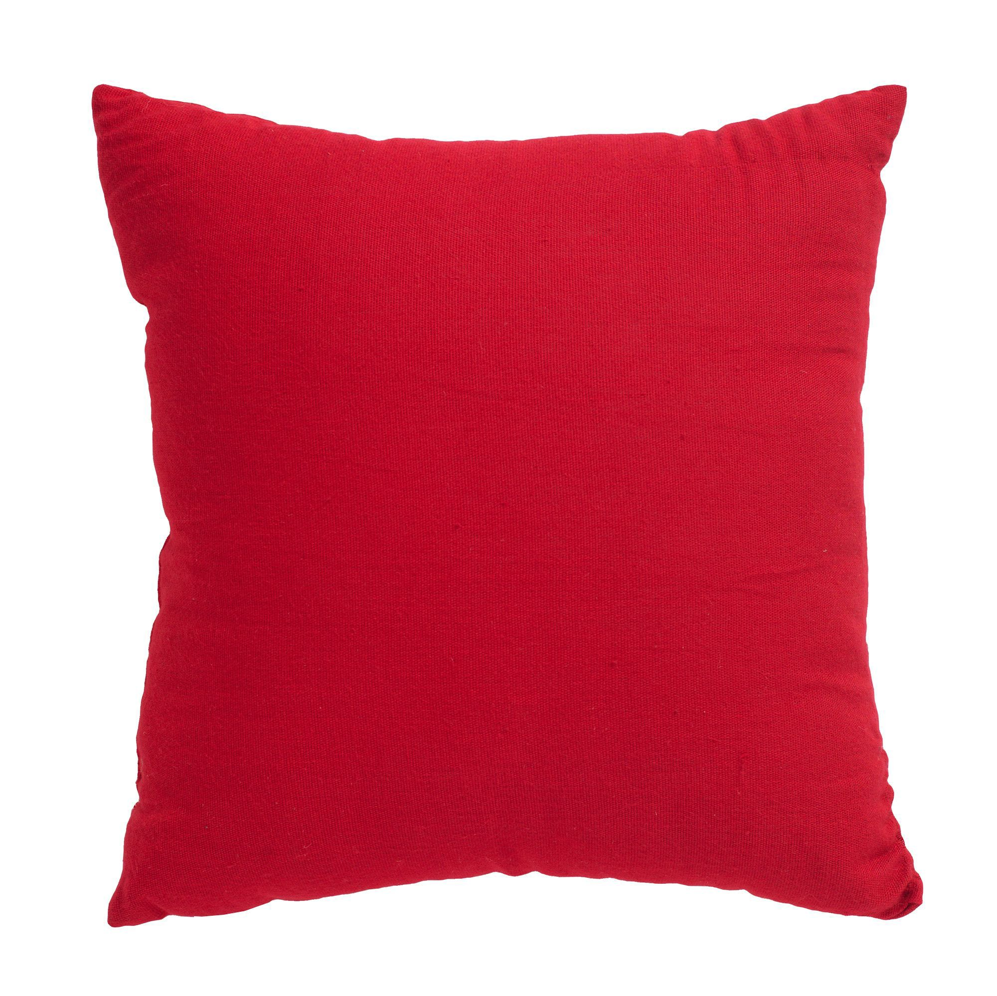 Plain Strawberry Red Cushion Departments Diy At B Amp Q