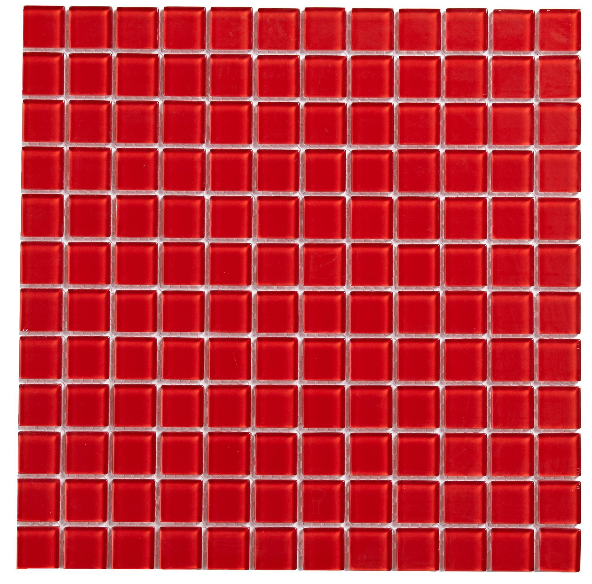 Red Gl Mosaic Tile L 300mm W Departments Diy At B Q
