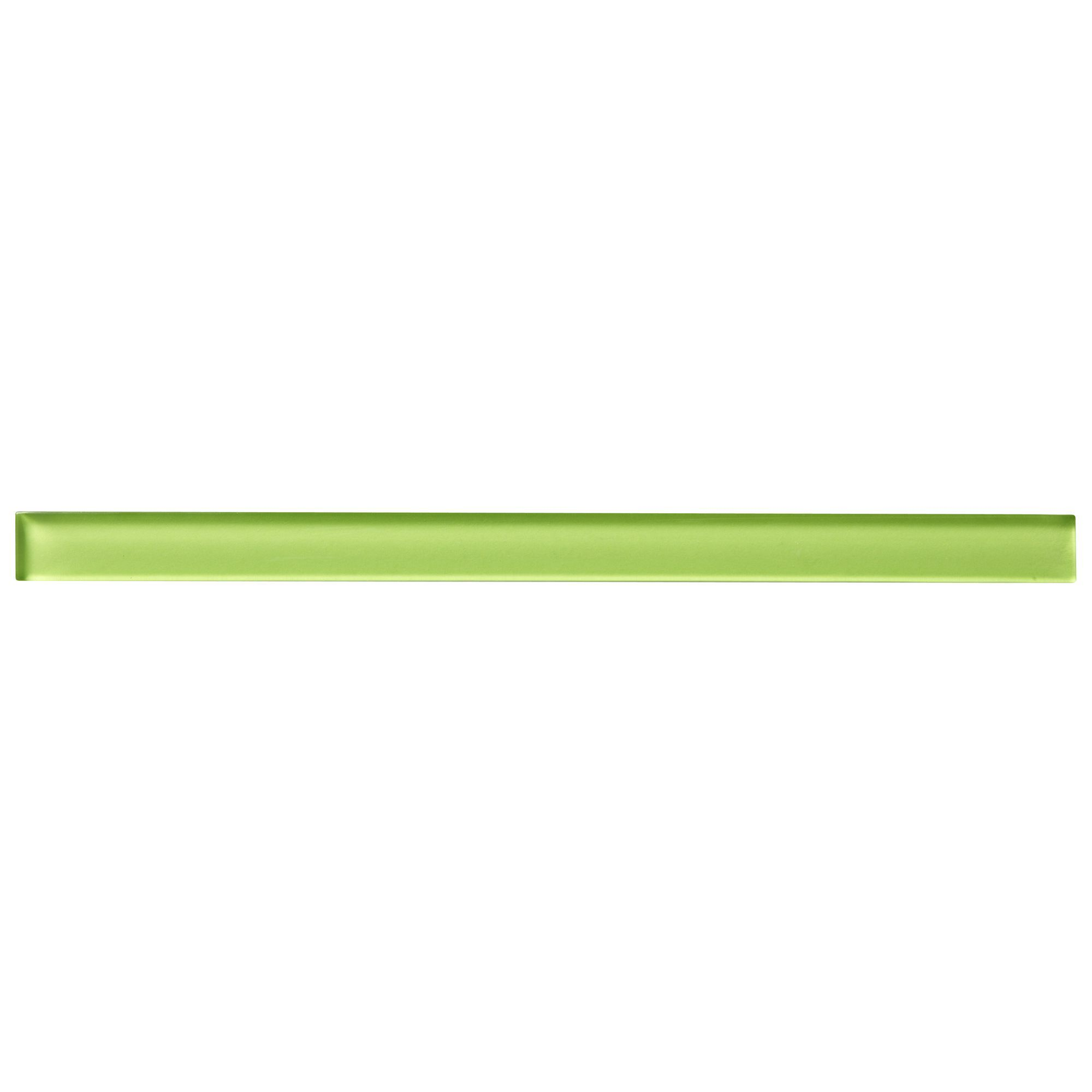 Lime Glass Border Tile, (L)250mm (W)17mm | Departments | DIY at B&Q