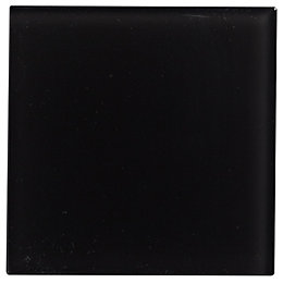 Black Glass Wall tile, (L)98mm (W)98mm