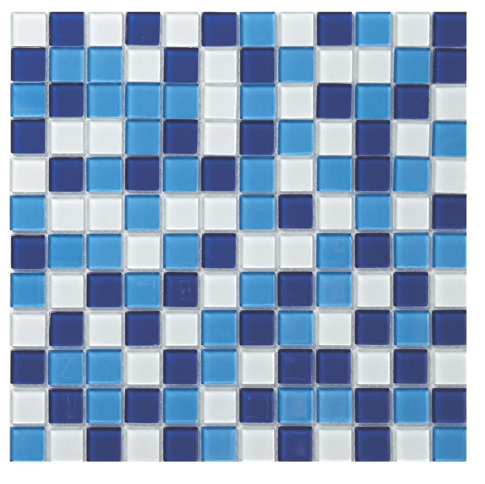 Green Glass Marble Mosaic Tile L 300mm W 300mm: Blue Glass Mosaic Tile, (L)300mm (W)300mm