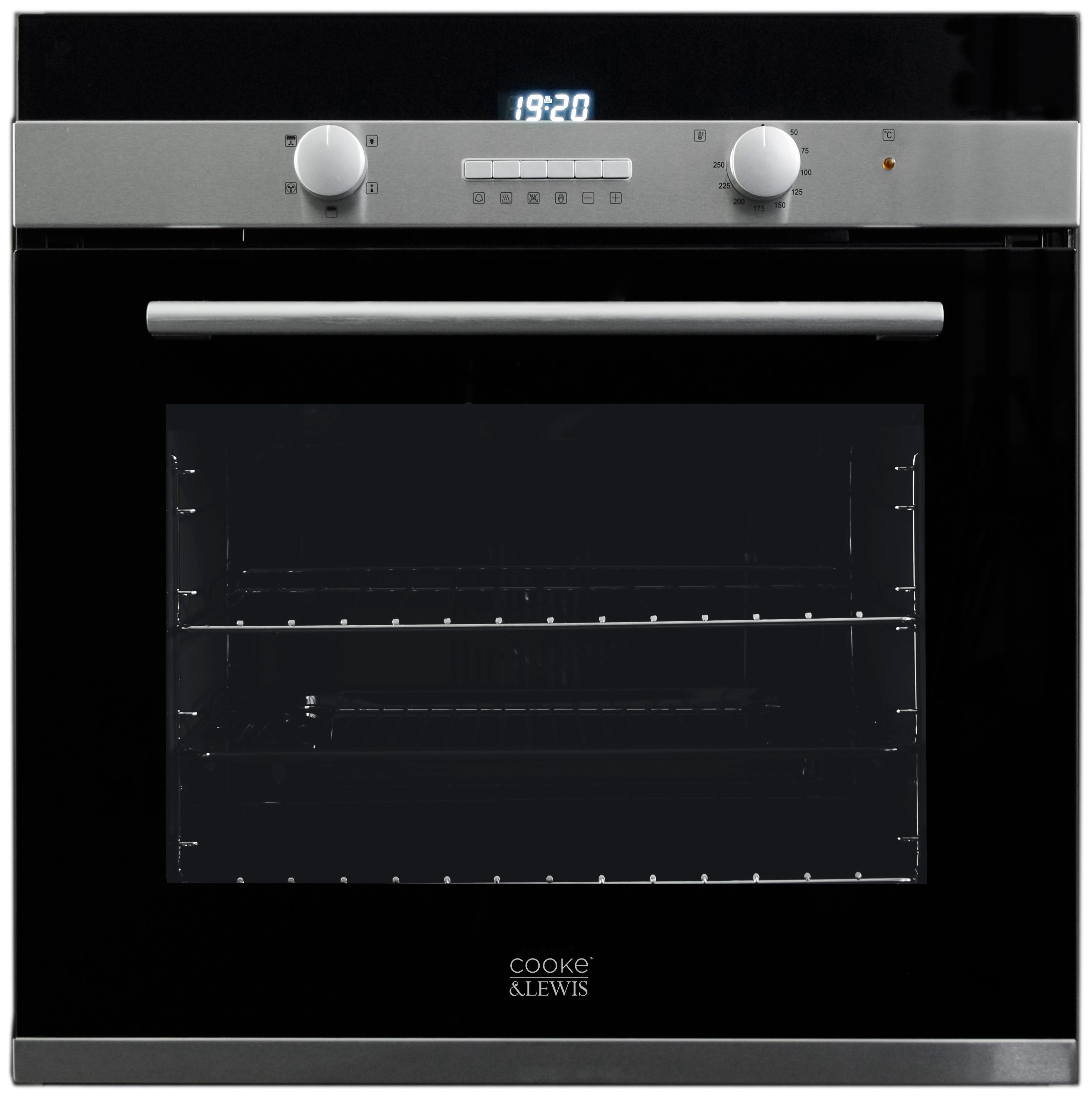 Cooke Lewis Clmf2bk C Black Electric Single Multifunction Oven Departments Diy At B Q