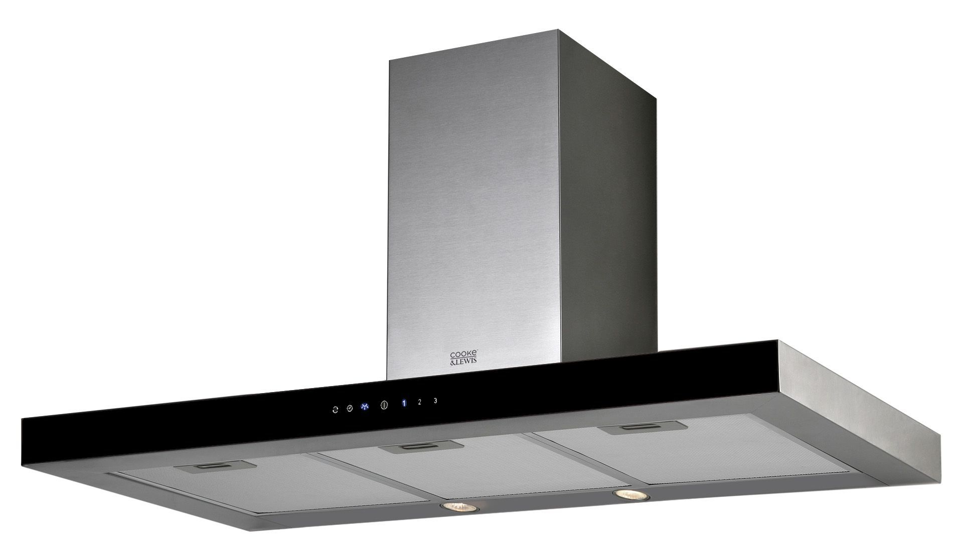 Cooke & Lewis CLMIRAG90C Stainless Steel Box Cooker Hood, (W) 900mm ...