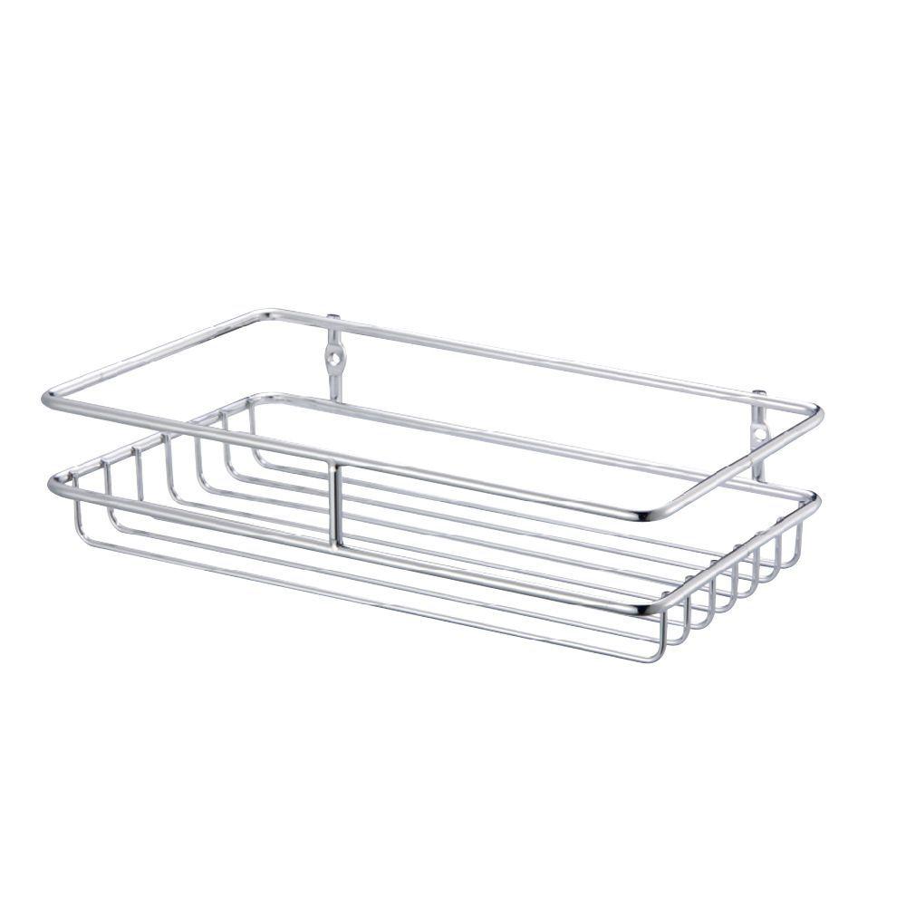 cooke  u0026 lewis chrome effect steel wire storage basket