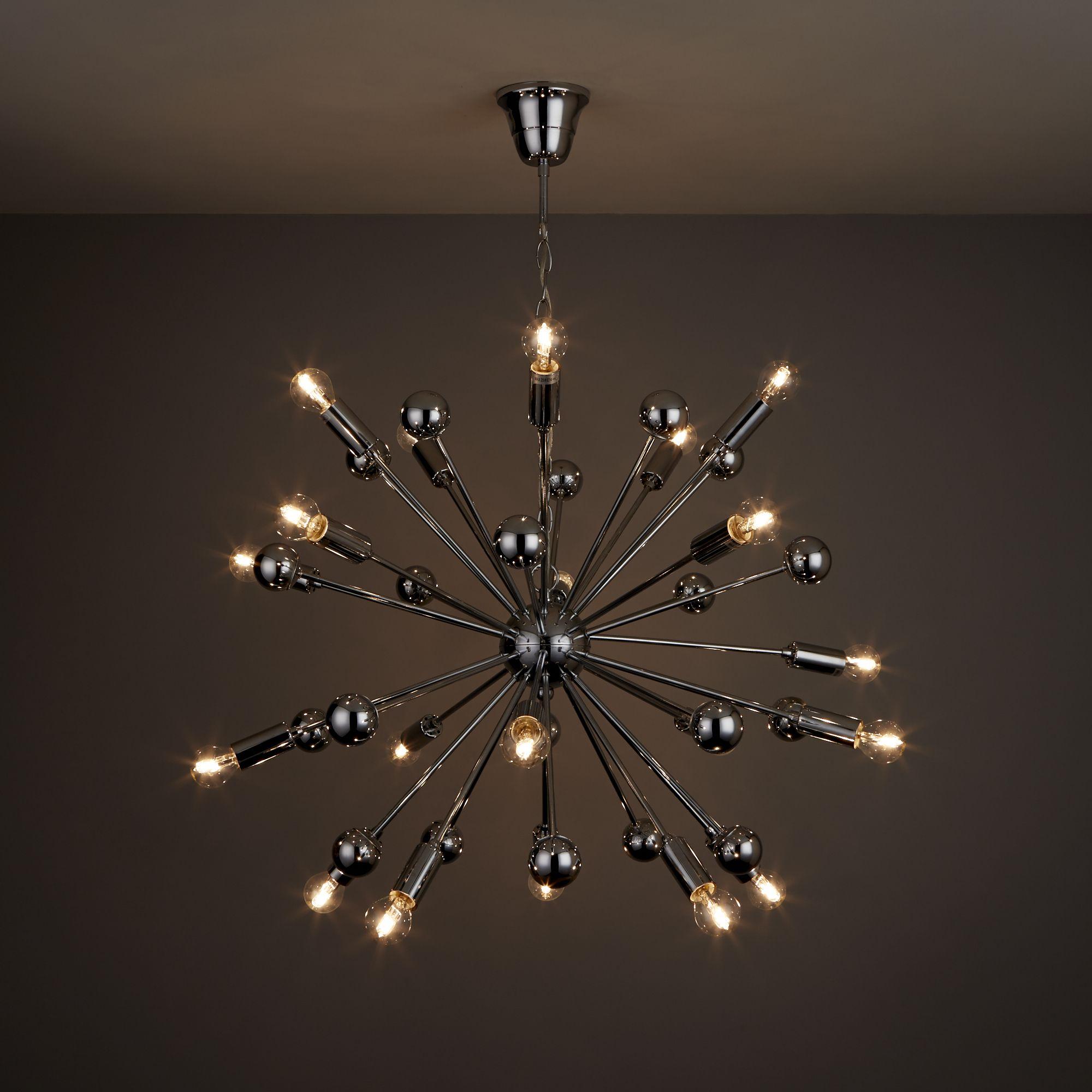 Komet Chrome Effect 20 Lamp Pendant Ceiling Light Departments Diy At B Q