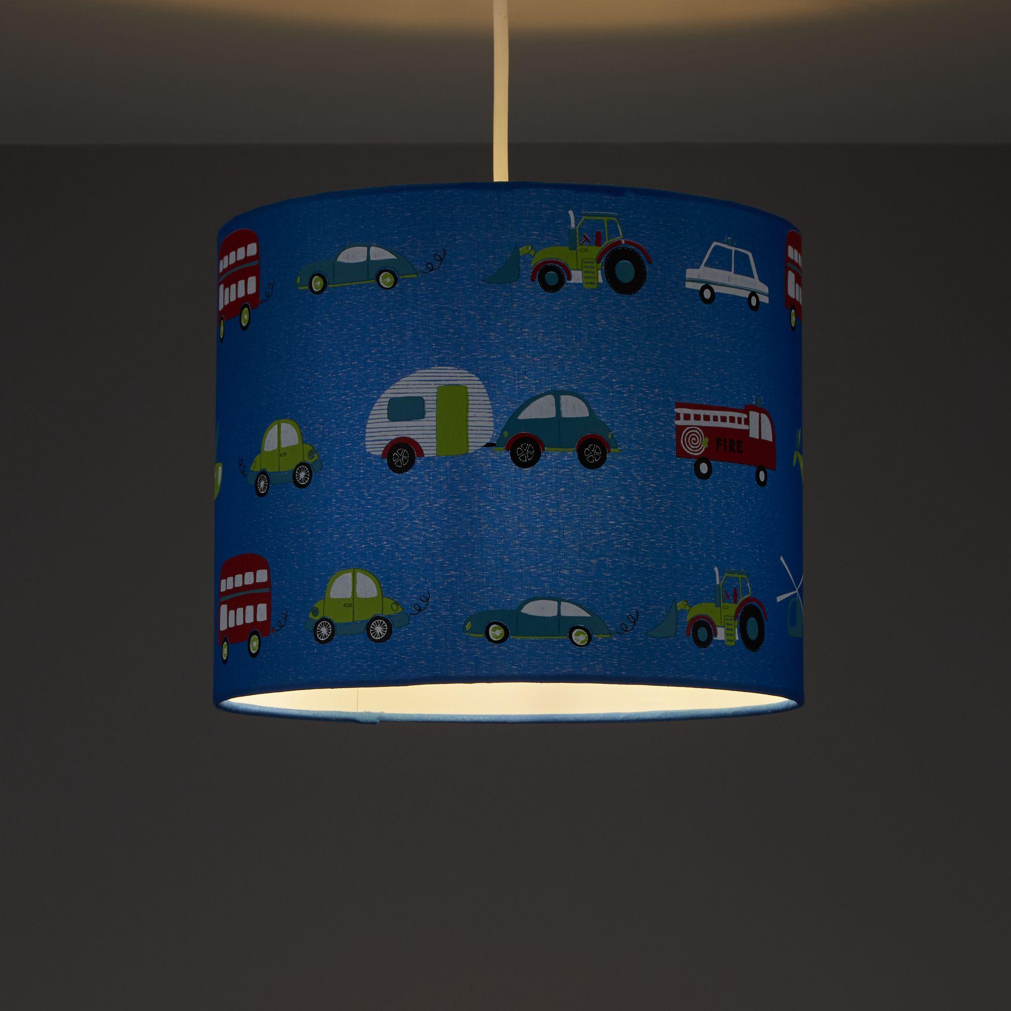 Colours Friedrich Blue Transport Light Shade (D)250mm