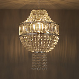 Colours Cesare Clear Crystal Effect Beaded Light Shade