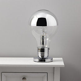 Idea Clear Chrome Effect Table Lamp
